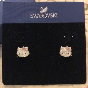 Swarovski Hello Kitty earrings